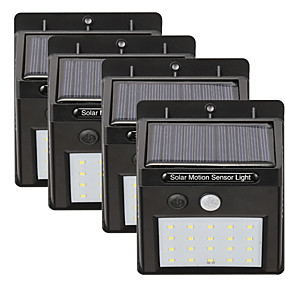 preiswerte Außenwandleuchten-4 stücke 5 watt solar wandleuchte wasserdicht solar motion detection monitor weiß 5.5 v außenbeleuchtung hof garten 20 led perlen