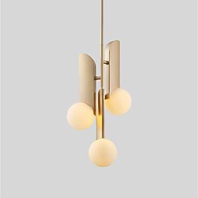 povoljno Viseća rasvjeta-Factory OEM 3-Light Privjesak Svjetla Slikano završi Metal Glass 110-120V / 220-240V Meleg fehér / Bijela