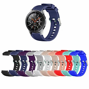 abordables Bandes de montre intelligente-Bracelet de Montre  pour Samsung Galaxy Watch 46 / Samsung Galaxy Watch 42 Samsung Galaxy Bracelet Sport Silikon Sangle de Poignet