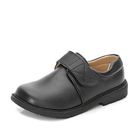 ราคาถูก Kids' Oxfords-เด็กผู้ชาย ความสะดวกสบาย PU รองเท้า Oxfords เด็กวัยหัดเดิน (9m-4ys) / เด็กน้อย (4-7ys) / Big Kids (7 ปี +) ขาว / สีดำ ฤดูใบไม้ผลิ
