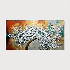 povoljno Slike za cvjetnim/biljnim motivima-Hang oslikana uljanim bojama Ručno oslikana - Cvjetni / Botanički Moderna Uključi Unutarnji okvir / Prošireni platno