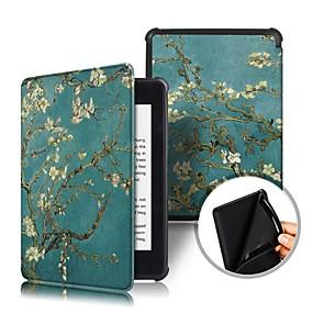 preiswerte Tablet Zubehör-Hülle Für Amazon Kindle PaperWhite 4 2018 Stoßresistent / Flipbare Hülle / Origami Ganzkörper-Gehäuse Blume Hart PU-Leder