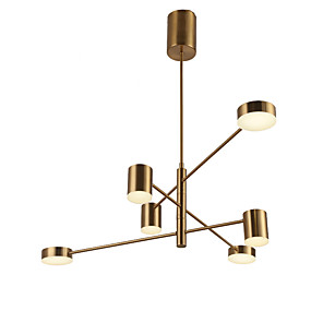 cheap Chandeliers-QINGMING® 6-Light Mini Chandelier Ambient Light Electroplated Painted Finishes Metal Mini Style 110-120V / 220-240V Warm White / Cold White