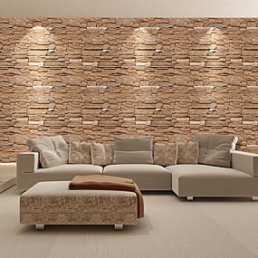 preiswerte Haus & Garten-Mode Ziegel PVC wasserdichte selbstklebende Tapete