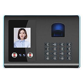 preiswerte Zutrittskontroll- und Zeiterfassungssysteme-biometrische Gesichtserkennung Fingerabdruck und PIN Zeiterfassung Gerät 1000pcs Fingerabdruck Kapazität 300pcs Gesicht 100000 Passwort Log Kapazität Infared Kamera