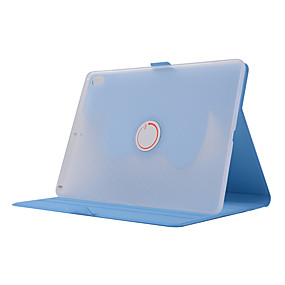 cheap iPad case-Case For Apple iPad Pro 10.5 Shockproof / with Stand / Auto Sleep / Wake Up Full Body Cases Solid Colored Soft PU Leather