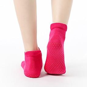 cheap Exercise, Fitness & Yoga-Athletic Sports Socks Yoga Socks 1 Pair Women's Socks Grip Socks Non Slip Yoga Pilates Barre Sports Cotton / nylon with a hint of stretch Violet Black Grey / Stretchy