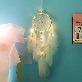 povoljno Vjenčanje Wall Art-ručno izrađeni lovci na snove su vodili svjetla pero zidne dekoracije