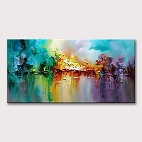 povoljno Slike za cvjetnim/biljnim motivima-Hang oslikana uljanim bojama Ručno oslikana - Sažetak Cvjetni / Botanički Klasik Moderna Bez unutrašnje Frame
