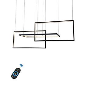 povoljno Lámpatestek-geometrijski luster od aluminija / novost moderna svjetla za trgovine svjetla caffe bar dnevni boravak / topla bijela / bijela / zatamnjena daljinskim upravljačem / wifi pametna djela s google home pl