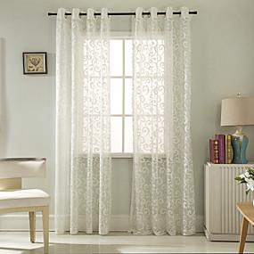preiswerte Fensterdekoration-Moderne Durchsichtig Ein Panel Durchsichtig Wohnzimmer   Curtains / Jacquard