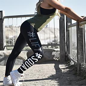 cheap Yoga & Fitness-Women's Yoga Pants Leggings Butt Lift Breathable Black Fuchsia Cotton Zumba Gym Workout Running Sports Activewear Stretchy