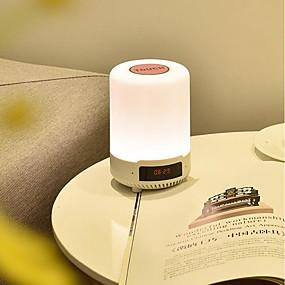 preiswerte Home & Garden-1pc Musik Wecker LED-Nachtlicht / Smart Nachtlicht Mehrfarbig USB Bluetooth / Wiederaufladbar / Berührungssensor <=36 V