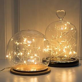 baratos Lembrancinhas & Presentes para Festas-Luzes LED Plástico Decorações do casamento Natal Casamento Todas as Estações
