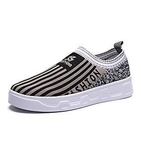 voordelige Damessneakers-Dames Elastische stof / Tissage Volant Lente zomer Informeel / minimalisme Sneakers Platte hak Ronde Teen Zwart / Roze / Khaki / Kleurenblok