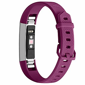 cheap Smartwatch Accessories-Watch Band for Fitbit Alta HR Fitbit Classic Buckle Silicone Wrist Strap