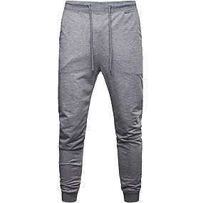 preiswerte Herrenmode-Herrn Sport Jogginghose Hose - Solide Schwarz Grau XL XXL XXXL
