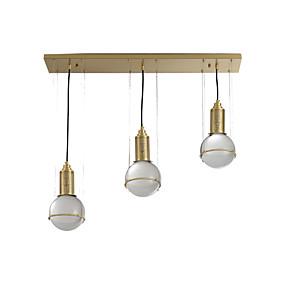 povoljno Viseća rasvjeta-ZHISHU 3-Light Klastera / industrijski Privjesak Svjetla Downlight Brass Metal 110-120V / 220-240V Meleg fehér / Bijela