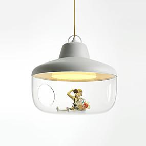 povoljno Lámpatestek-CONTRACTED LED® zdjela / Geometrijski / Fenjer Privjesak Svjetla Ambient Light Slikano završi PVC Glass Mat, Kreativan, Prijelaz boje 110-120V / 220-240V