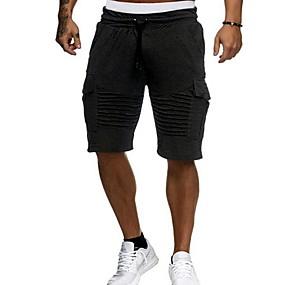 preiswerte Herrenmode-Herrn Grundlegend Kurze Hosen Hose - Solide Schwarz Weiß Rote M L XL