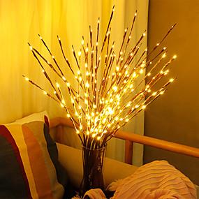 tanie Lampka nocna i dekoracja-sztuczne rośliny doprowadziły wierzbę gałąź światła staycation 20 żarówek rośliny z tworzywa sztucznego dekoracje ślubne dla domowych fałszywych roślin