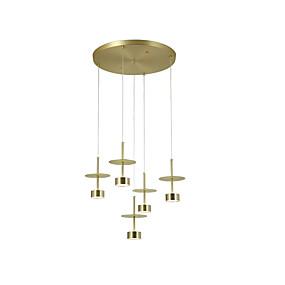 povoljno Viseća rasvjeta-ZHISHU 5-Light Klastera / Geometrijski / Mini Privjesak Svjetla Downlight Electroplated Metal 110-120V / 220-240V Meleg fehér / Bijela