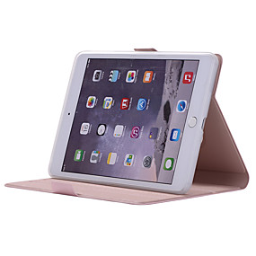 cheap iPad case-Case For Apple iPad Mini 5 / iPad Mini 3/2/1 / iPad Mini 4 360° Rotation / Shockproof / with Stand Full Body Cases Solid Colored Soft PU Leather