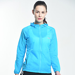 cheap Camping, Hiking & Backpacking-Women's UPF 50+ Clothing UV Sun Protection Lightweight Jacket Zip Up Hoodie Jacket Windbreaker Cooling Sun Shirt with Pockets Quick Dry Packable Coat Top Hiking Fishing Outdoor Performance