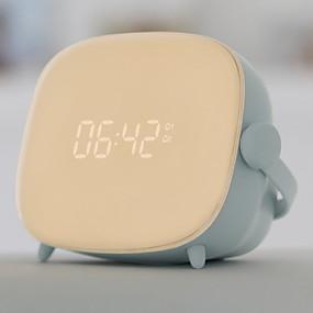 preiswerte Home & Garden-1pc führte digitales Weckernachtlicht / intelligentes Nachtlicht warmes weißes usb kreativ<= 36 v