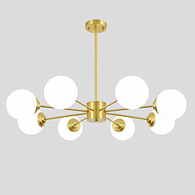 povoljno Lámpatestek-OYLYW 8-Light Lusteri Ambient Light Brass Bakar Glass New Design 110-120V / 220-240V / E26 / E27