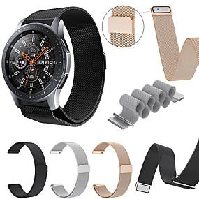 billige Telefoner og tilbehør-Klokkerem til Samsung Galaxy Watch 46 Samsung Galaxy Sportsrem / Milanesisk rem Rustfritt stål Håndleddsrem