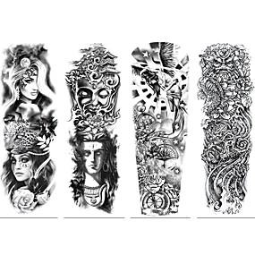 preiswerte Temporäre Tattoos-4 pcs Temporary Tattoos Umweltfreundlich / Wegwerfbar Korpus / Brachium / zurück Kartonpapier