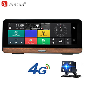 preiswerte GPS Routenkontrollgeräte-Junsun E31P 7,84 Zoll IPS Bildschirm FHD 1080P 4G ADAS Android 5.1 Auto DVR Auto GPS Navigationsschleife Aufnahme Bluetooth GPS Wifi Parkplatz Monitor mit Rückfahrkamera