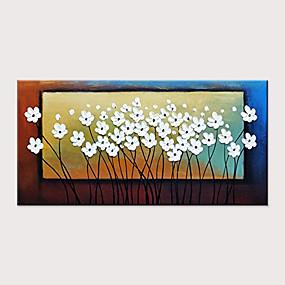 povoljno Slike za cvjetnim/biljnim motivima-Hang oslikana uljanim bojama Ručno oslikana - Sažetak Cvjetni / Botanički Klasik Moderna Bez unutrašnje Frame / Valjani platno