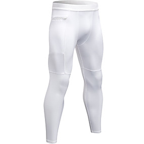 cheap Men's Activewear-YUERLIAN Men's Running Tights Leggings Compression Pants Athletic Tights Leggings with Phone Pocket Elastane Winter Fitness Gym Workout Running Breathable Quick Dry Moisture Wicking Sport Solid