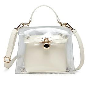 preiswerte Taschen-Damen Knöpfe PVC / PU Bag Set Beutel Sets 2 Stück Geldbörse Set Schwarz / Weiß / Rosa / Herbst Winter
