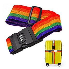 cheap Travel Security-Luggage Strap Belt Packing Adjustable Travel Suitcase Nylon Password Lock Buckle Strap Baggage Belts