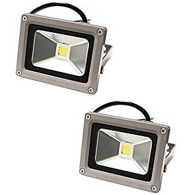 billige Flomlys-2pcs 10 W LED-lyskastere Vanntett Dekorativ Varm hvit Kjølig hvit 85-265 V Utendørsbelysning Svømmebasseng Courtyard 1 LED perler
