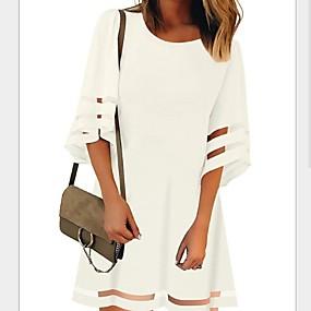 preiswerte Damen Kleider-Damen Etuikleid Chiffon Kleid Solide Knielang