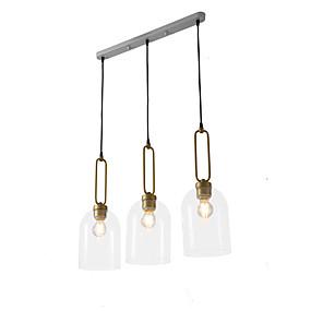 povoljno Viseća rasvjeta-ZHISHU 3-Light sputnjik / industrijski / Noviteti Privjesak Svjetla Downlight Electroplated Metal Glass New Design, WIFI kontrolu 110-120V / 220-240V Meleg fehér / Bijela / Wi-Fi Smart