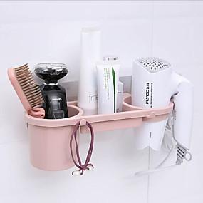 cheap Bathroom Gadgets-traceless stick hair dryer rack powerful bathroom non-punch shelving rack bathroom hair dryer rack storage rack