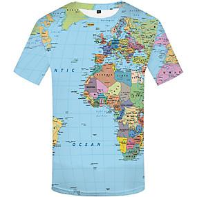 preiswerte Plan Your Summer-Herrn Geometrisch Übergrössen T-shirt, Rundhalsausschnitt Druck Regenbogen
