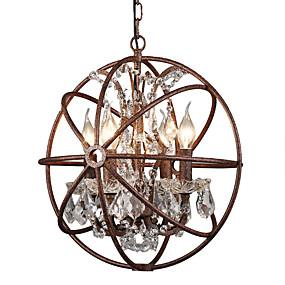 povoljno Lámpatestek-Luster s 4 svjetla / industrijski luster za svijeće ambijentalno oslikana završava metalnim kreativnim 110-120v / 220-240v