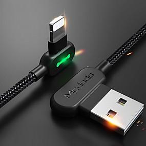 preiswerte Telefone & Zubehör-Beleuchtung Kabel 1m-1.99m / 3ft-6ft Geflochten / Schnelle Aufladung Nylon USB-Kabeladapter Für iPhone