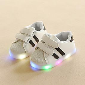 preiswerte LED Schuhe-Jungen Leuchtende LED-Schuhe PU Sneakers Kleinkind (9m-4ys) / Kleine Kinder (4-7 Jahre) Rot / Blau / Rosa Frühling / Herbst / Gummi