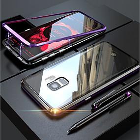 povoljno Maske za mobitele-Θήκη Za Samsung Galaxy S9 / S9 Plus / S8 Plus Prozirno / S magnetom Korice Jednobojni Tvrdo Kaljeno staklo