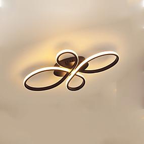 cheap Ceiling Lights & Fans-1-Light 38 cm Flush Mount Lights Aluminum Silica gel Geometrical / Novelty Painted Finishes Artistic / LED 110-120V / 220-240V