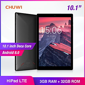 preiswerte CHUWI-CHUWI HiPad LTE 10.1 Zoll phablet / Android Tablet ( Android 8.0 1920*1200 Zehn Kern 3GB+32GB )