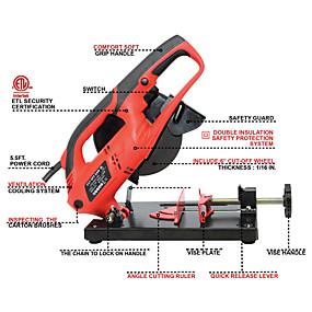 cheap Tools-Toolman Cut-off Saw/Machine 6 6.5A 7/8 works with DeWalt Makita Ryobi Bosch