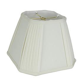 preiswerte LED-Gadgets-Künstlerisch / Moderne zeitgenössische Augenschutz / Neues Design / Dekorativ Lampenschirm Für Schlafzimmer / Studierzimmer / Büro Stoff Weiß / Gelb